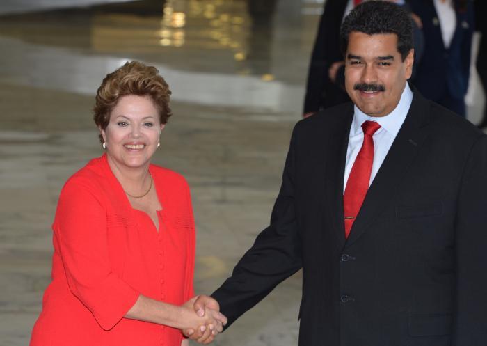 Dilma Rousseff and Nicolas Maduro - 2013