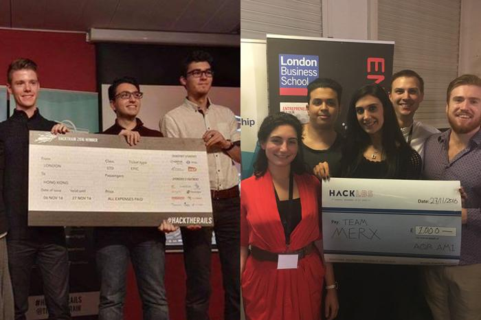 MSc Technlogy Entrepreneurship students have won two separate Hackathons