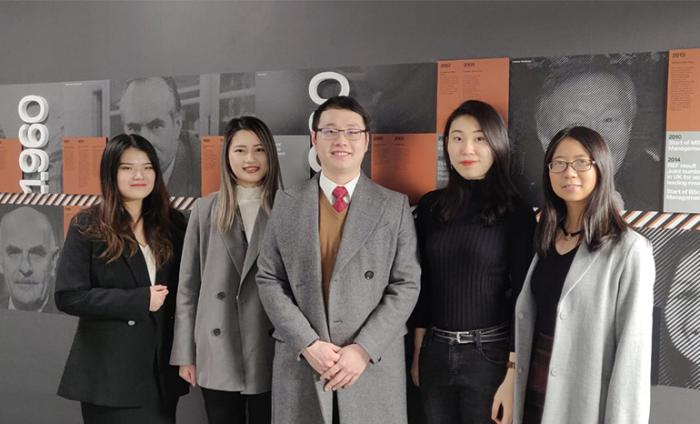 Photo of students who formed Capital Genius's team for the competition