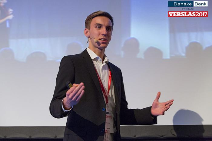Petras Slekys, a BSc Information Management for Business student, recently spoke at Verslas 2017