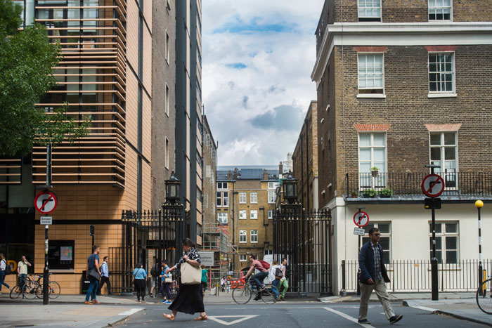 UCL Street view, Malet Place