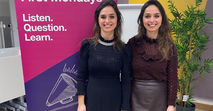 Photo of Double Dutch founders at a UCL Innovation and Enterprise event